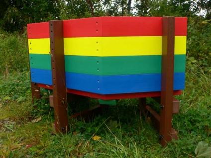 Multicoloured Children S Buddy Bench Education